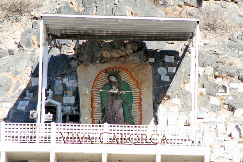 Shrine to the Virgin of Guadalupe, near Caborca, Sonora