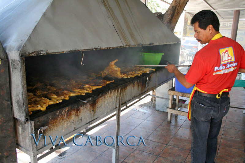 Sinaloa-style grilled chicken in Caborca