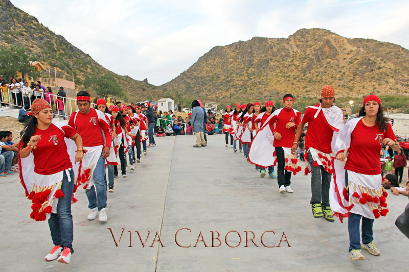 Performing pre-Hispanic Dances near Caborca during the Feast Day of the Virgin of Guadalupe on December 12